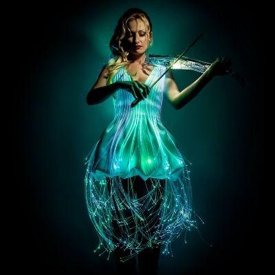Laser LED Violinist